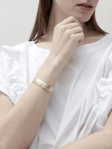 bracelet bronze jagged cuff