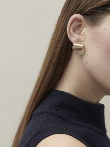small folded earrings
