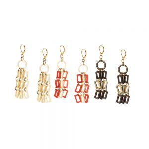 earrings horn 3 chaines