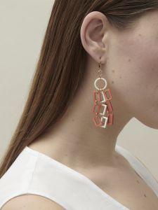 earrings horn 3 chaines