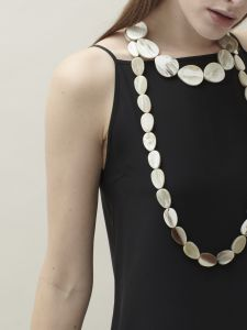 new ovals long necklace