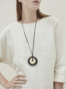 full circle and bronze pendant